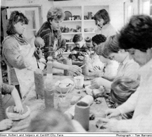 The pottery studio at City Farm Cardiff 1986
